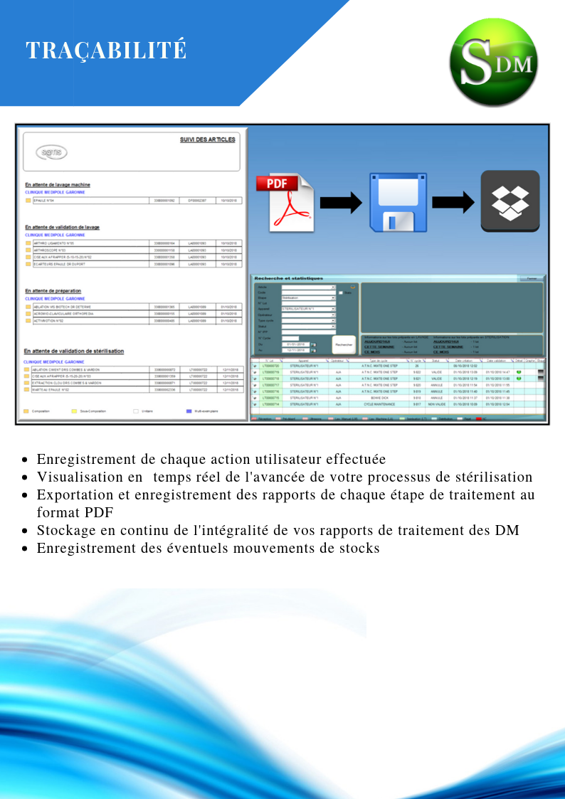 Traçabilité SATIS Dispositifs Médicaux