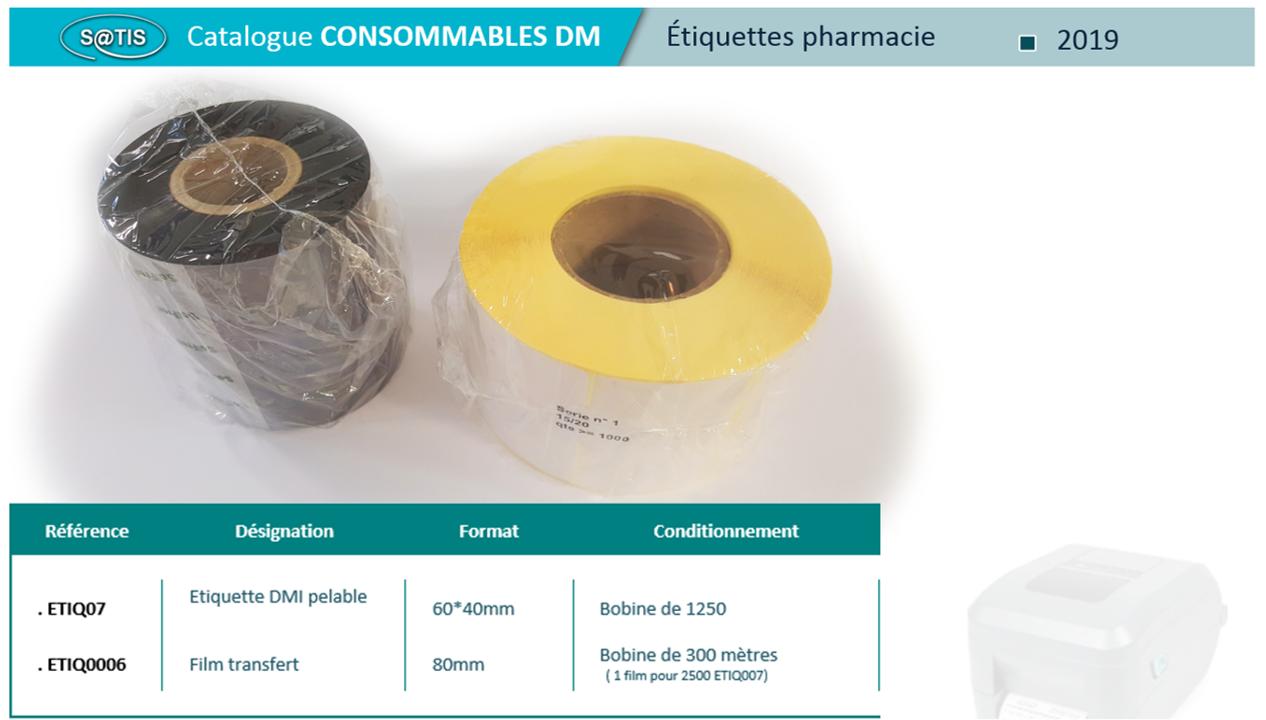 Étiquettes pharmacie