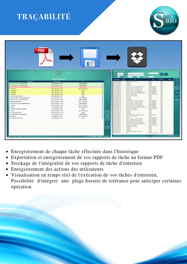 Traçabilité SATIS BioNettoyage